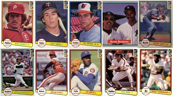 1982 Donruss Baseball Cards – 10 Most Valuable