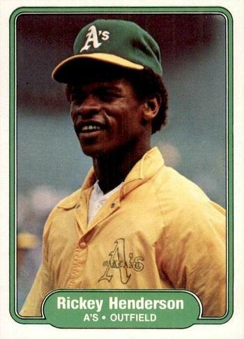 1982 Fleer Rickey Henderson