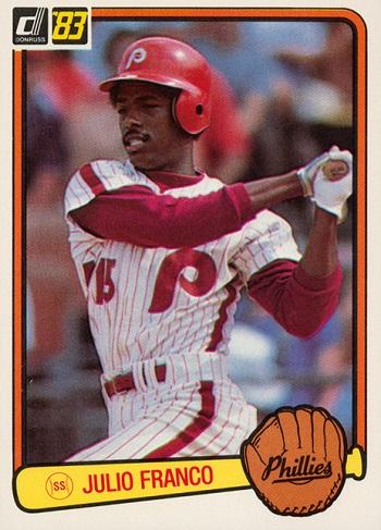 1983 Donruss Julio Franco Rookie Card