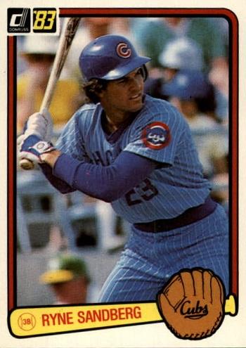 1983 Donruss Ryne Sandberg Rookie Card