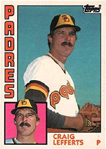1984 Topps Traded Craig Lefferts