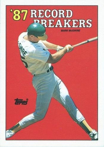 1988 Topps Mark McGwire 87 Record Breakers