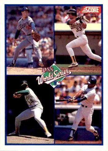 1989 Score 1988 World Series card