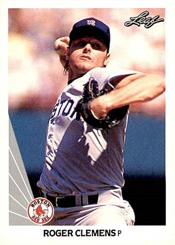 1990 Leaf Roger  Clemens