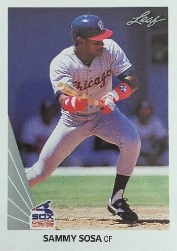 1990 Leaf Sammy  Sosa Rookie Card