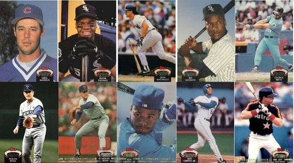 1992 Stadium Club Baseball Cards – 10 Most Valuable