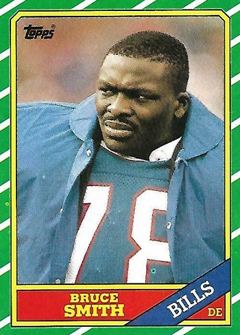 1986 Topps Bruce Smith Rookie Card