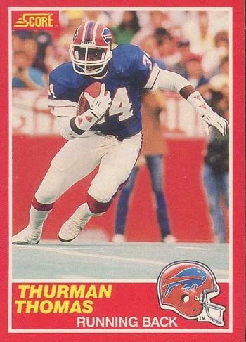 1989 Score Thurman Thomas Rookie Card