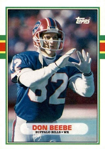 1989 Topps Traded Don Beebe Rookie Card