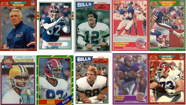 10 Great Football Cards that Celebrate Buffalo Bills in the Super Bowl