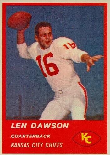 1963 Fleer Len Dawson