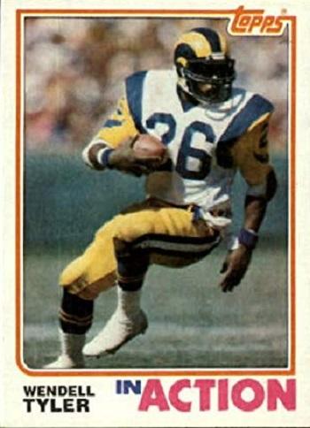 1982 Topps Wendell Tyler In Action