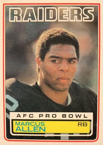 1983 Topps Marcus Allen
