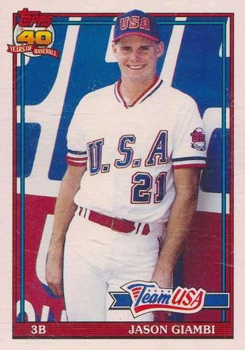 1991 Topps Traded Jason Giambi