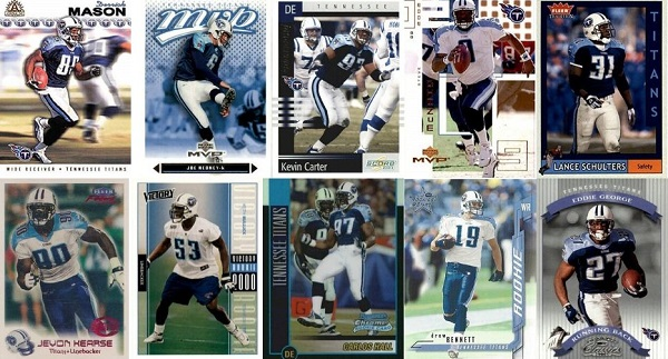 10 Football Cards that Define Tennessee Titans' Run to 2002 AFC Championship Game