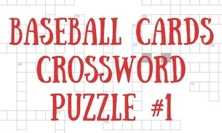 Baseball Cards Crossword Puzzle #1