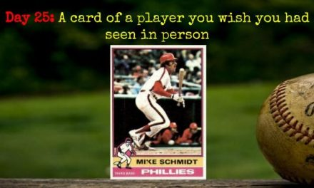 1976 Topps Mike Schmidt – 2020 Spring Training Challenge Day 25