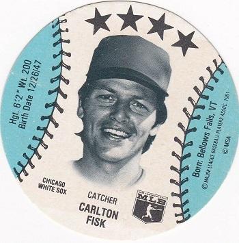 1981 MSA Sports Discs Carlton Fisk