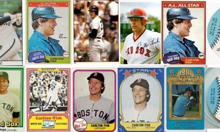 1981 Carlton Fisk Baseball Cards — Changing His Sox