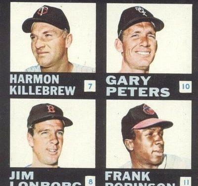 Harmon Killebrew Powered 1968 Topps Plaks Checklist