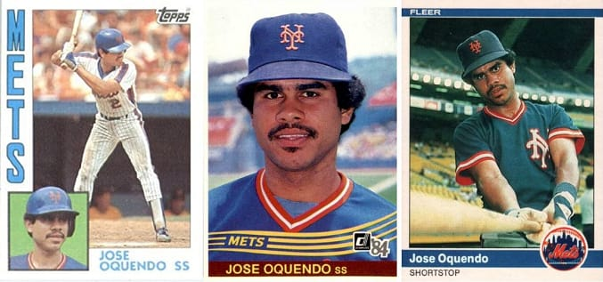 How the 3 Jose Oquendo Rookie Cards Made History