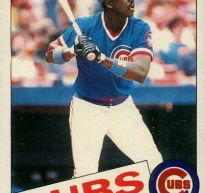 1985 Topps Mini Gary Matthews Tied at the Hip to 1984 Cubbies