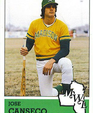 1983 Fritsch Jose Canseco Madison Muskies Beat the Crowd