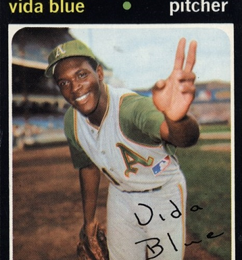1972 Pro Star Promotions Vida Blue Is Coming at You