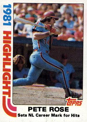 1982 Topps Pete Rose Record Breaker