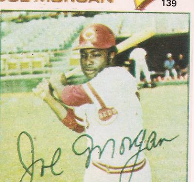 1977 Topps-ish Venezuelan League Stickers Joe Morgan Didn't Want to Look