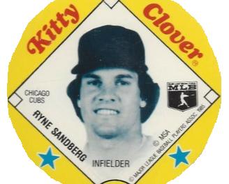 1985 Kitty Clover Potato Chips Ryne Sandberg Heralded Arrival of a New Hobby Favorite