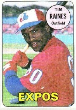 1990 Baseball Cards Magazine 1969 Topps Replica Tim Raines (#24)