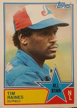 1983 Topps Tim Raines All-Star (#403)