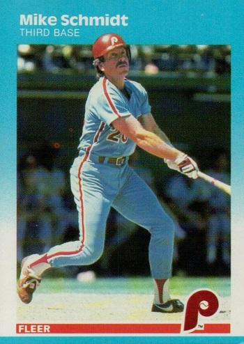 1987 Fleer Mike Schmidt (#187)