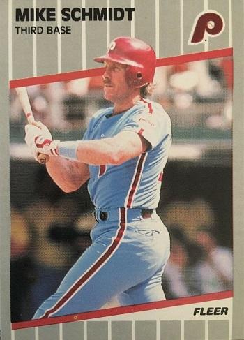 1989 Fleer Mike Schmidt (#582)