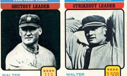 1973 Topps Walter Johnson — Inspired or Inspiration?