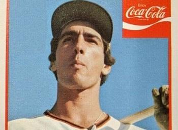 1976 Coke Phoenix Giants Premiums Jack Clark a Giant Pre-Rookie Card