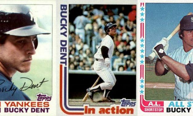 1982 Topps Bucky Dent a Three-Headed Pinstripe Farewell