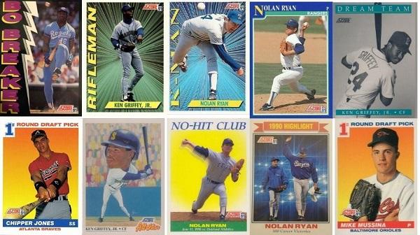 1991 Score Baseball Cards – 10 Most Popular