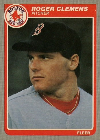 1985 Fleer Roger Clemens rookie card