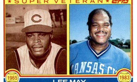 1983 Topps Lee May Super Veteran a Super Career-Capper