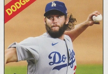 2020 Topps Throwback Thursday Clayton Kershaw Lines Up a Couple of Legends