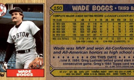 1987 Topps Wade Boggs