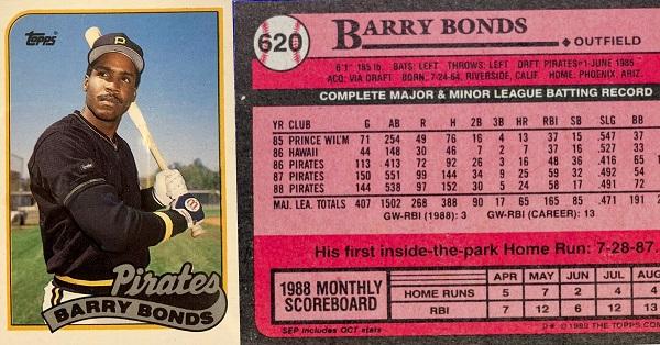 1989 Topps Barry bonds