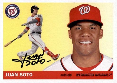2020 Topps Archives Juan Soto Mirrors History