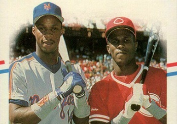 1988 Fleer Darryl Strawberry and Eric Davis Crunch Time Was Dream Time